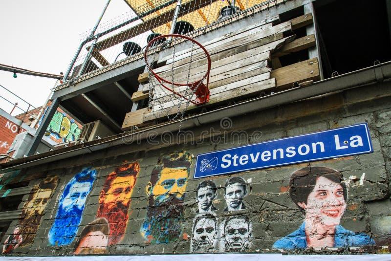 De kunst van de Inspirativestraat in Melbourne, Victoria, Australië royalty-vrije stock fotografie