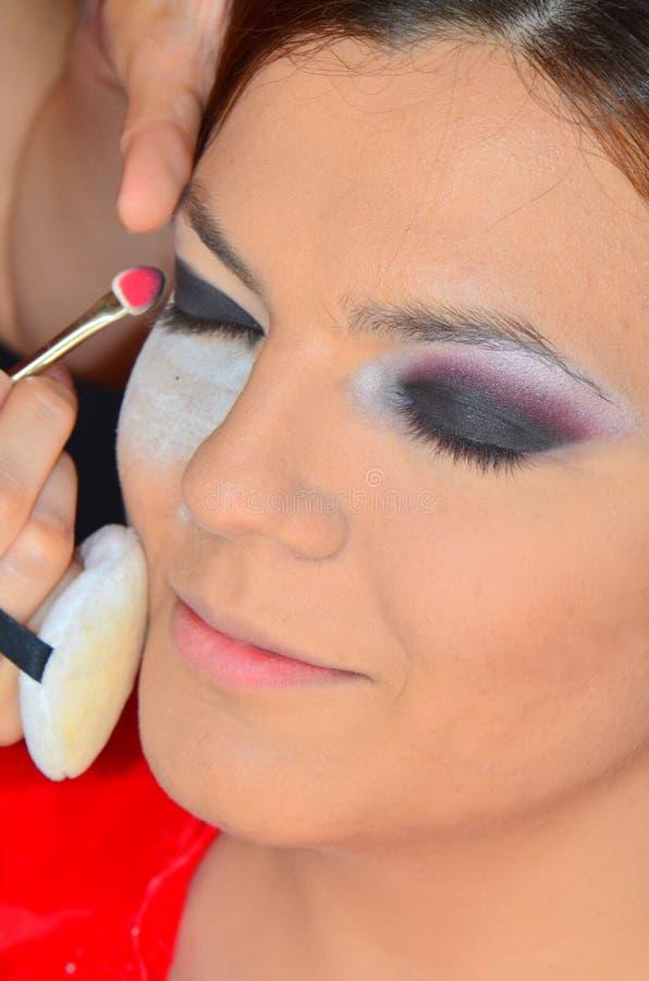 De kunst van make-up: de ogen stock foto's