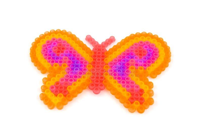 De kunst van parels in de vorm van vlinder stock foto's