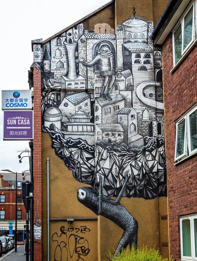 De kunst van Wall Street in Sheffield stock afbeelding