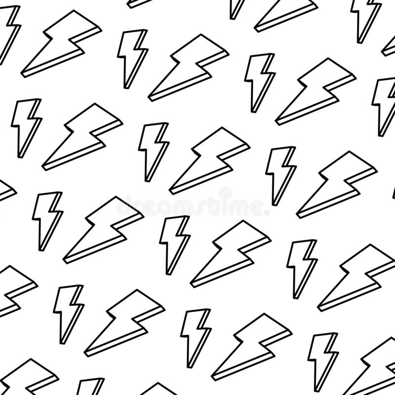 De kunstachtergrond van de lijn aardige lichte donder vector illustratie