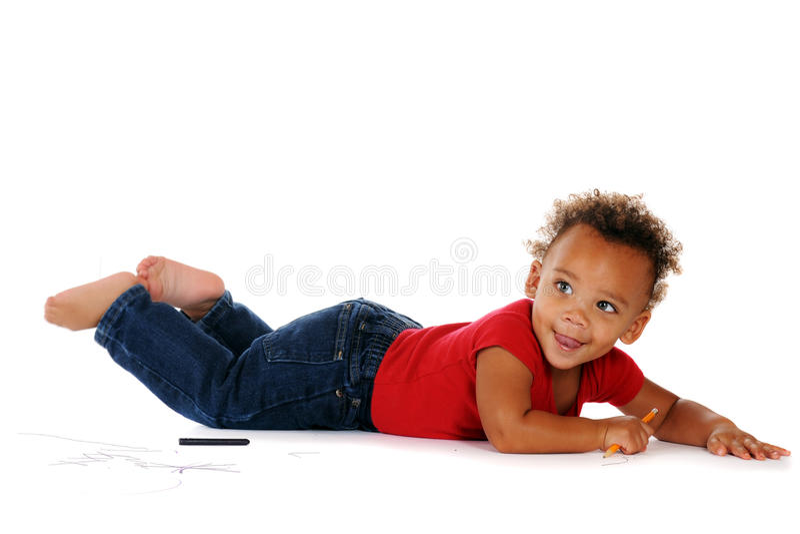 De Kunstenaar van de baby stock foto