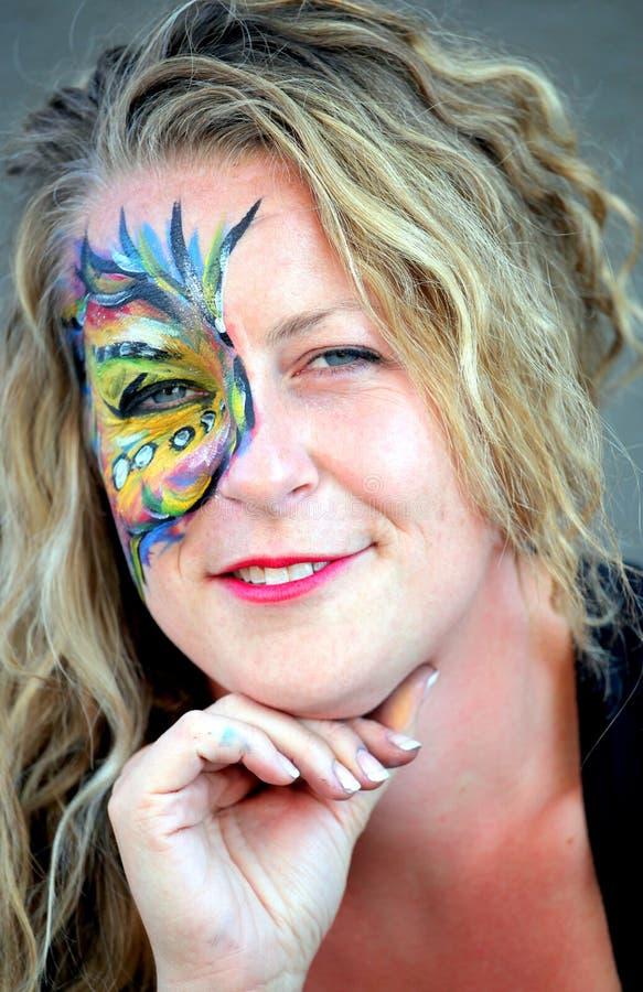 De kunstenaar van de gezichtsschilder royalty-vrije stock fotografie