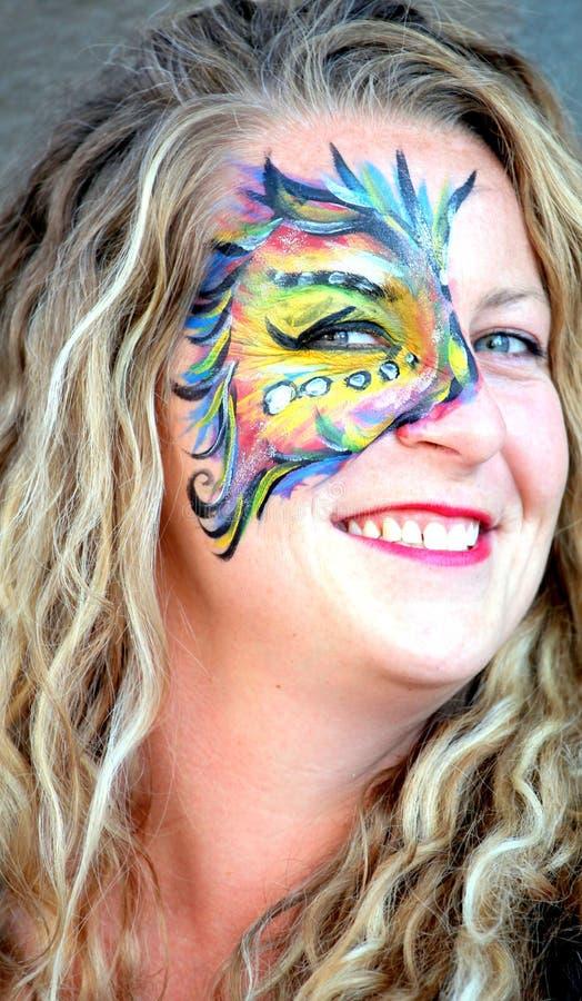 De kunstenaar van de gezichtsschilder royalty-vrije stock afbeeldingen