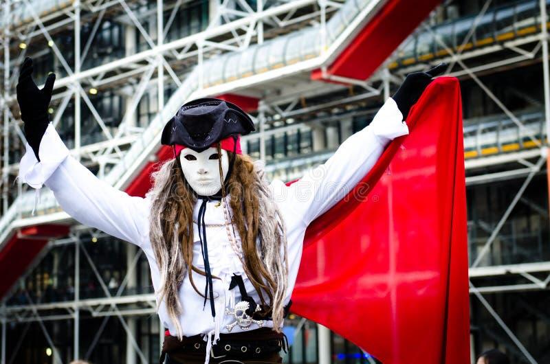 De kunstenaar van de piraatstraat royalty-vrije stock afbeelding