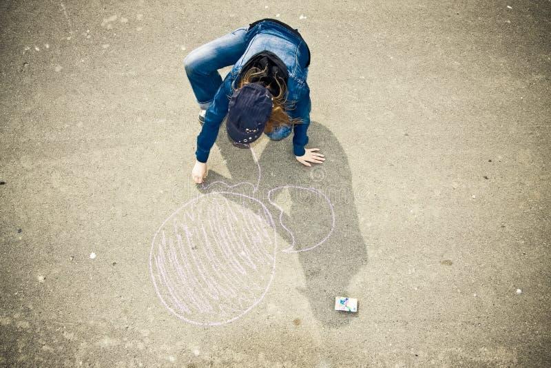 De kunstenaar van de straat stock foto