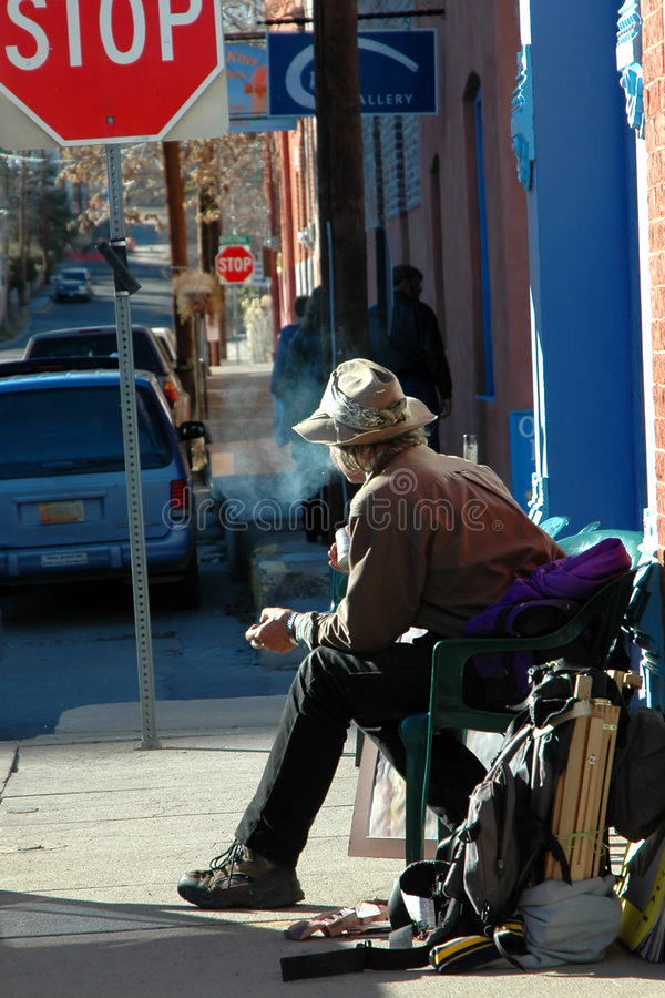 De Kunstenaar van de straat stock afbeeldingen
