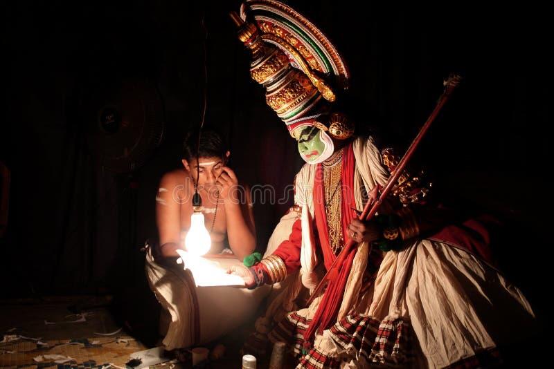 De kunstenaar van Kathakali royalty-vrije stock afbeelding