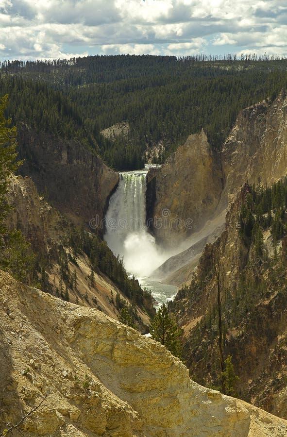 De kunstenaars richten Yellowstone Grand Canyon royalty-vrije stock afbeelding