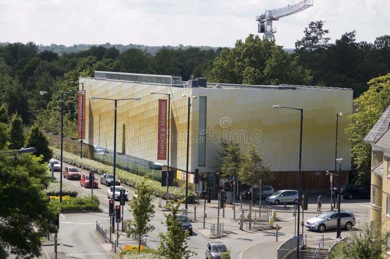 De Kunstgalerie Van Lightbox, Woking Redactionele Stock Foto
