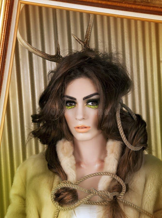 De kunstHerten van de make-up royalty-vrije stock afbeelding
