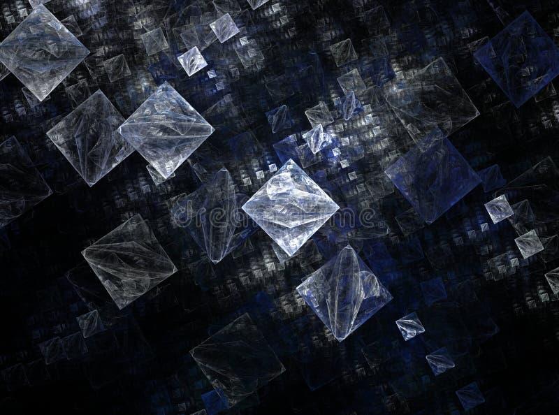 De kunstontwerp van Fracral grafisch abstract kubussen vector illustratie