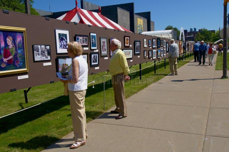 De Kunsttentoonstelling van Streetside royalty-vrije stock fotografie