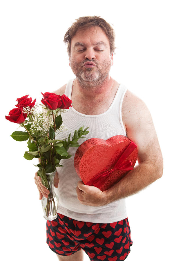 De Kus van de Dag van valentijnskaarten stock afbeelding