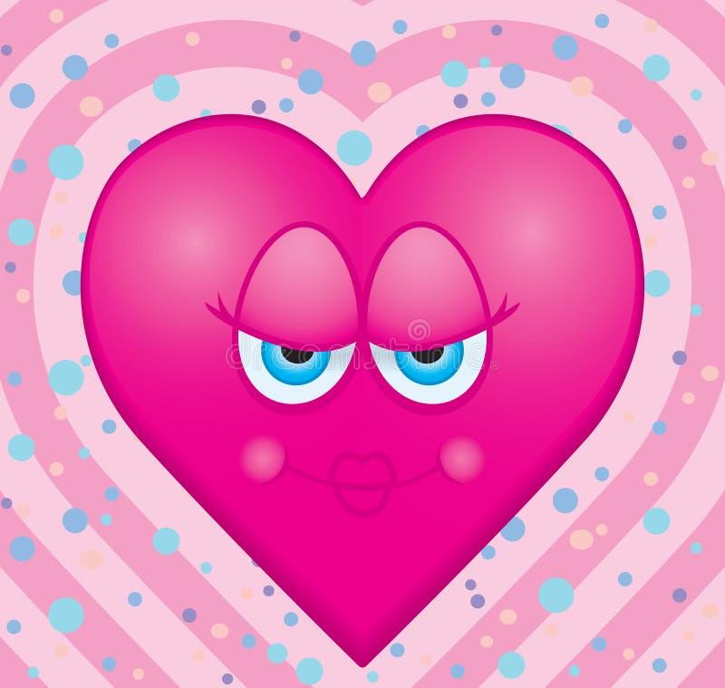 De Kus van het hart royalty-vrije illustratie