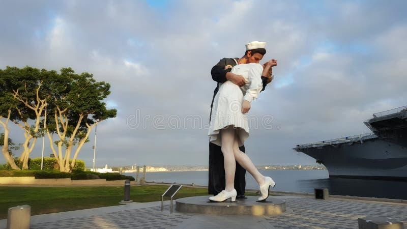 De kus van overwinning stock foto