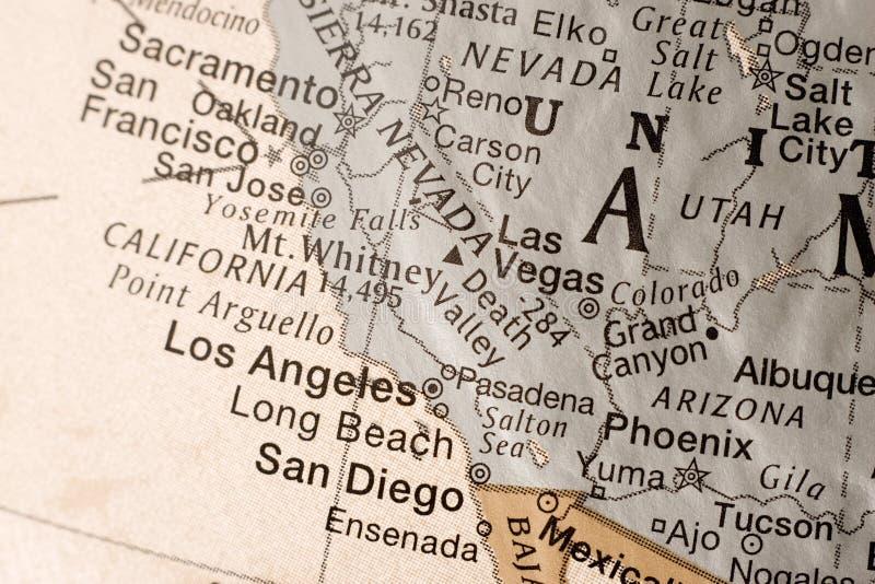 De kust de V.S. van het Westen van Californië royalty-vrije stock foto's