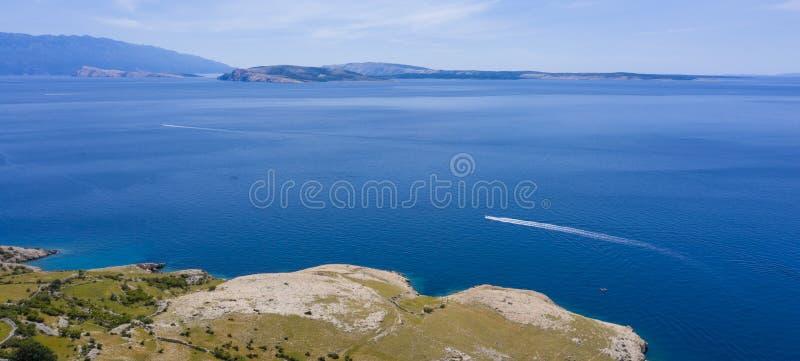 De kust en het overzees van Kroatië royalty-vrije stock fotografie