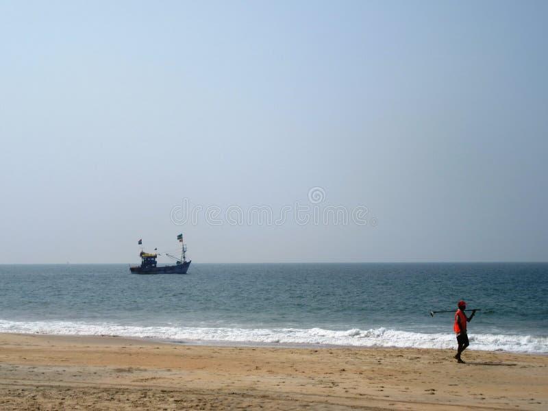 De kust en de stranden van Goa stock foto's