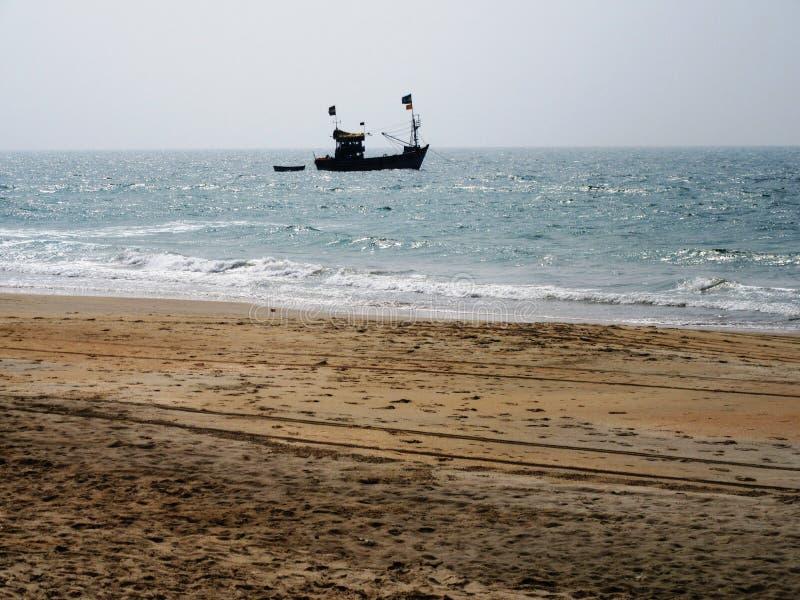 De kust en de stranden van Goa stock foto