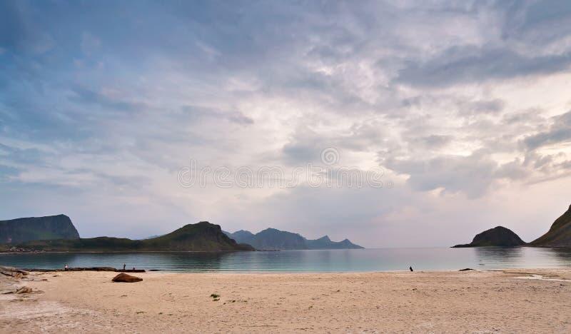 De kust Oceaanstrand van Noorwegen Vakantie in Noorwegen stock fotografie