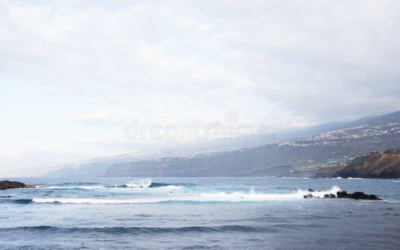De kust Tenerife, Spanje van Puerto de la Cruz royalty-vrije stock foto's