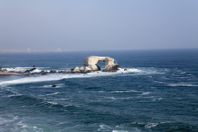 De kust van Antofagasta in Chili stock fotografie