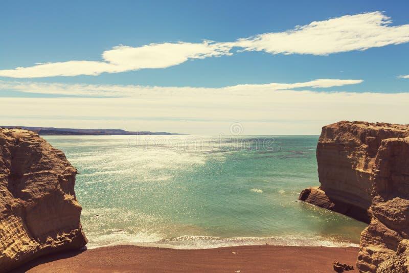 De kust van Argentinië stock fotografie