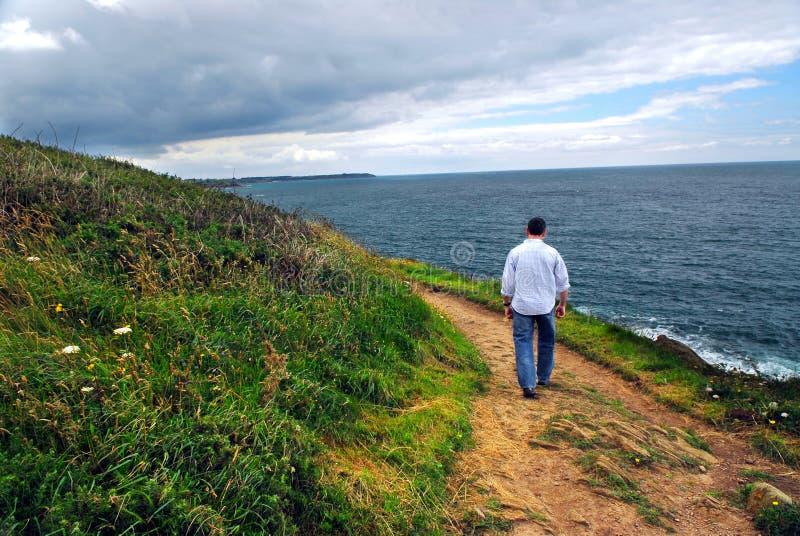 De kust van Bretagne stock foto's