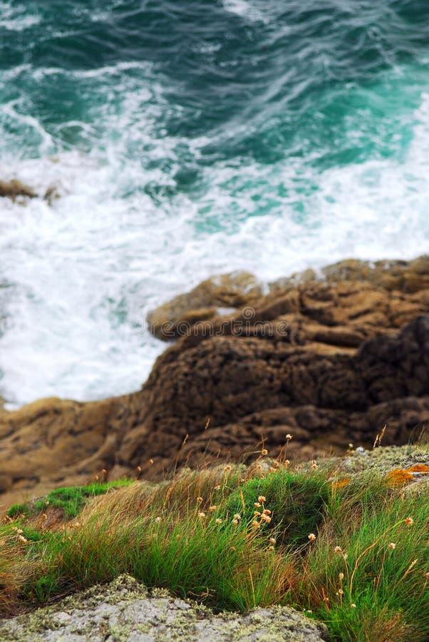 De kust van Bretagne stock foto