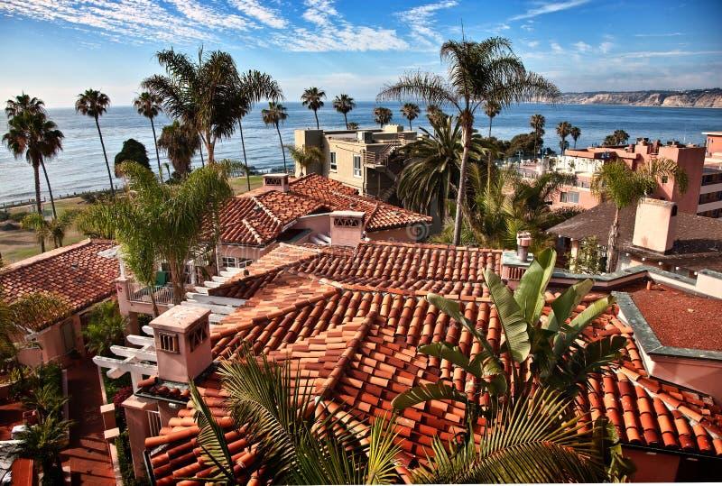 De Kust van Californië, La Jolla, Californië stock afbeelding