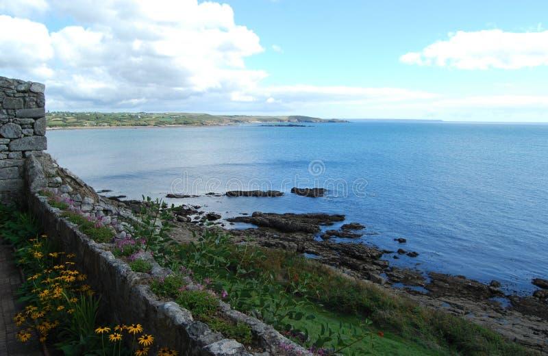 De kust van Cornwall van St Michael Onderstel Cornwall royalty-vrije stock foto