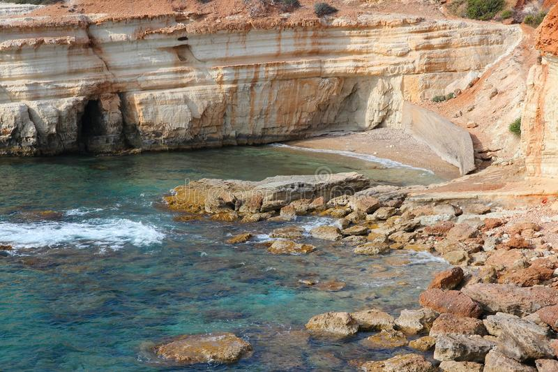 De kust van Cyprus stock afbeeldingen