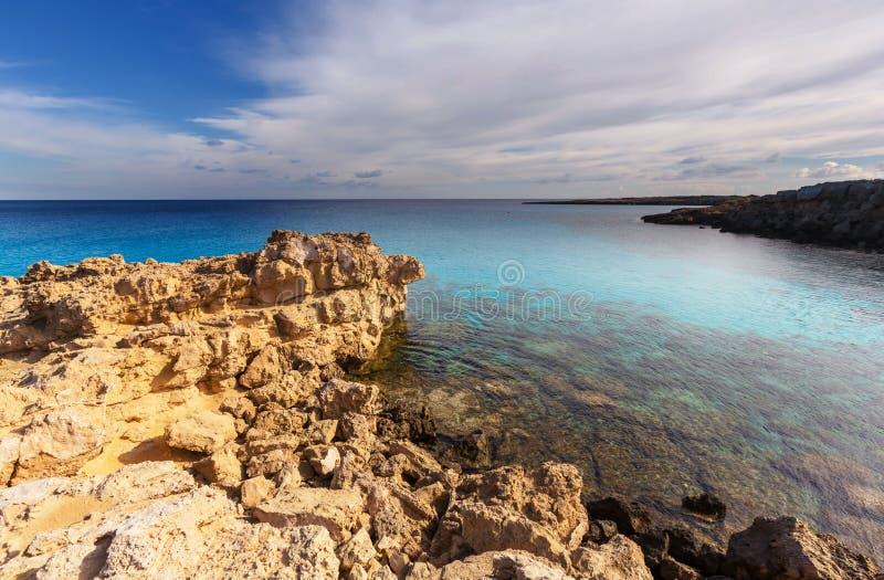 De kust van Cyprus stock fotografie