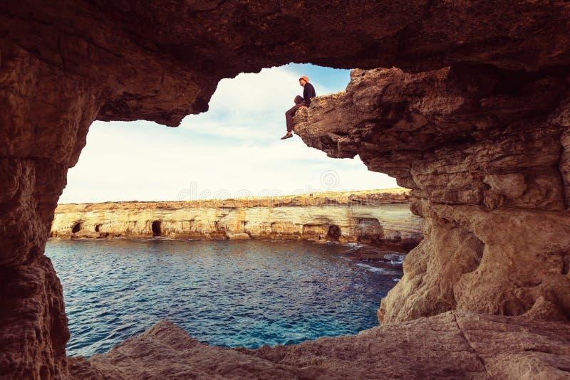 De kust van Cyprus royalty-vrije stock foto's
