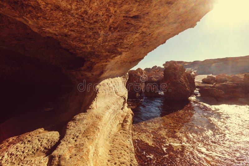 De kust van Cyprus stock afbeelding