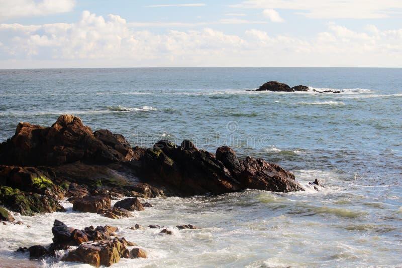 De kust van de Atlantische Oceaan in Porto, Portugal stock afbeeldingen