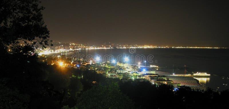 De kust van de nacht stock fotografie