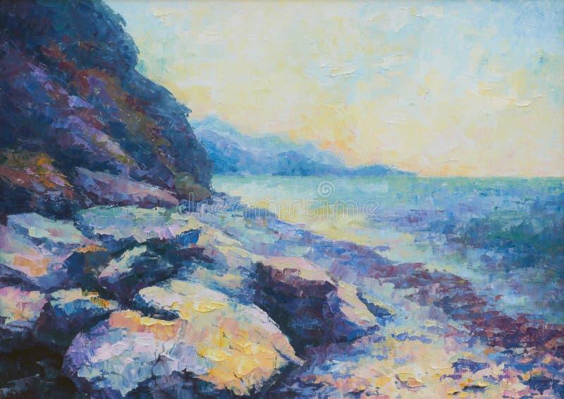De kust van de ochtend vector illustratie