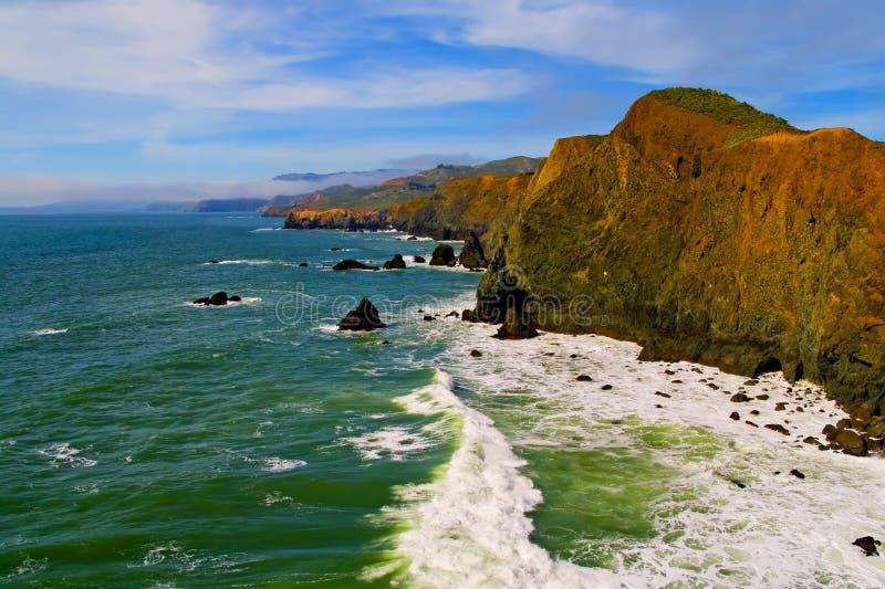 De Kust van de Provincie van Marin stock fotografie