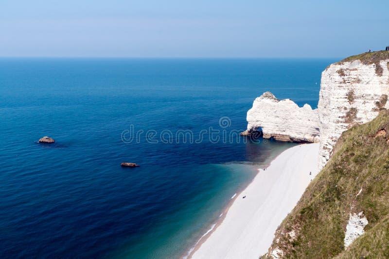 De kust van Frankrijk in Normandië stock foto's