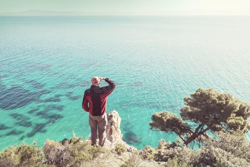 De kust van Griekenland stock foto's