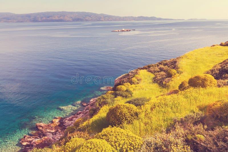 De kust van Griekenland royalty-vrije stock afbeeldingen