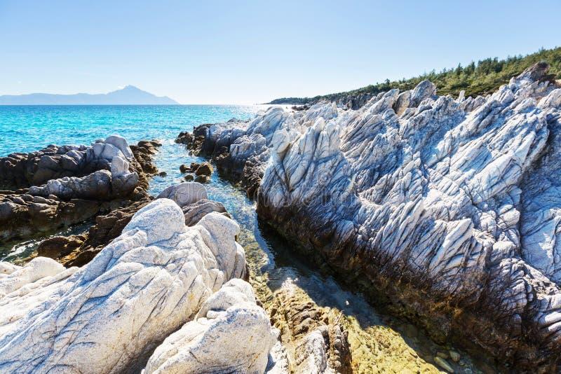 De kust van Griekenland stock foto