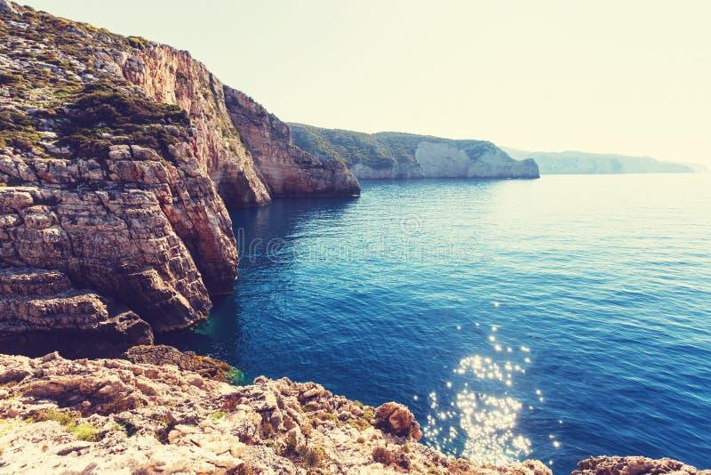 De kust van Griekenland stock fotografie