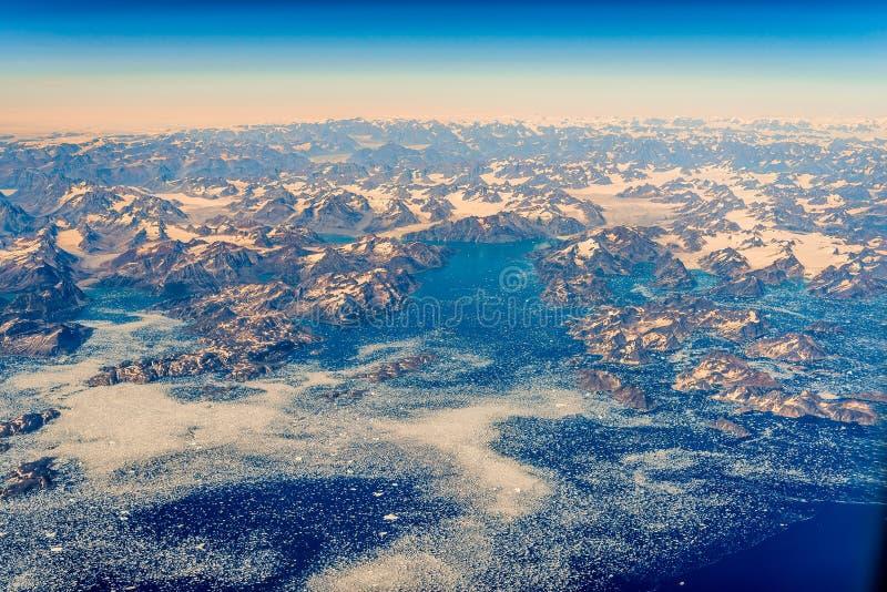 De kust van Groenland royalty-vrije stock foto's