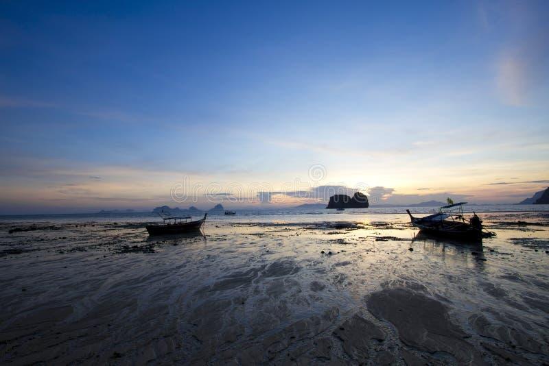 De kust van het eb stock foto's
