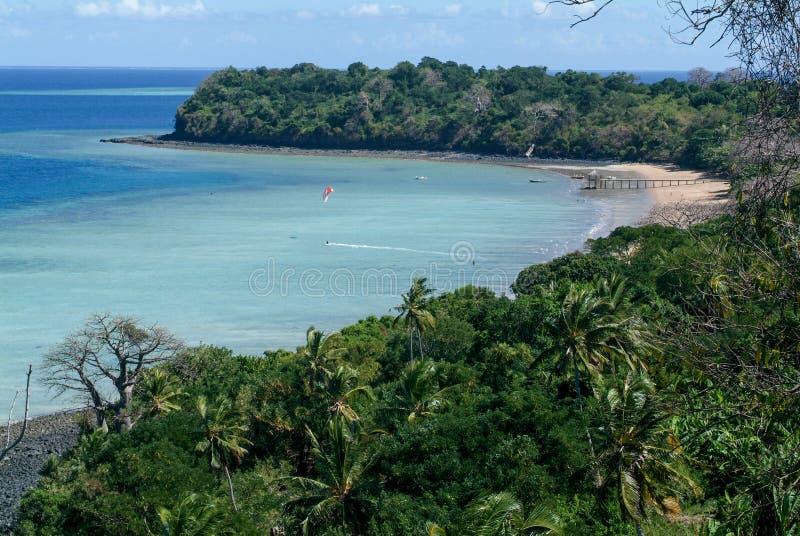 De kust van het eiland van Mayotte royalty-vrije stock fotografie