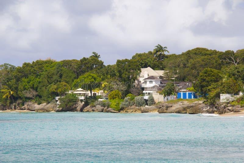 De Kust van het westen, Barbados stock afbeelding