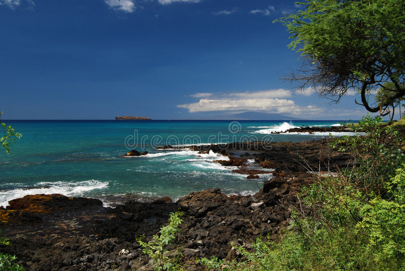 De Kust van het Zuiden van Maui royalty-vrije stock fotografie